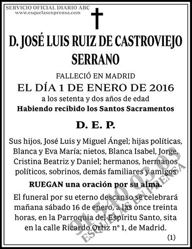 José Luis Ruiz de Castroviejo Serrano